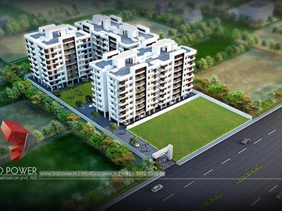 Pune-3d-walkthrough-freelance-service-exterior-render-architecturalbuildings-apartment-day-view-bird-eye-view
