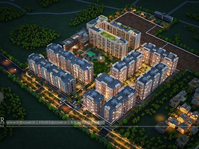 Pune-Top-view-township-beutiful-elevation-3d-design-apartment-virtual-rendering