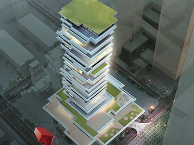 apartment-walkthrough-freelance-3d-model-architecture-architectural-services-high-rise-apartment-birds-view-Pune