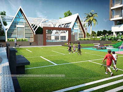 Pune-Shoping-complex-elevation-3d3d-walkthrough-service-provider-visualization-3d-Architectural-animation-services