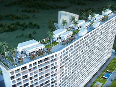 pune-Highrise-apartments-top-view-multiple-flats-3d-design3d-model-visualization-architectural-visualization-3d-real-estate-walkthrough-company