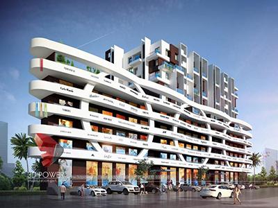 Tiruchirappalli-architectural-design-architectural-rendering-services-shopping-apartment-night-view-3d-architecture-studio