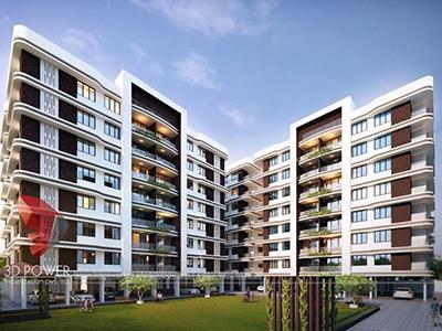 Tiruchirappalli-architectural-walkthrough-architecture-services-3d-rendering-firm-high-rise-building-warms-eye-view