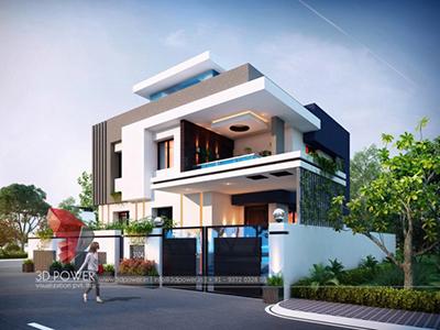 Agra-exterior-design-rendering-bungalow-3d-landscape-design-bungalow-evening-view