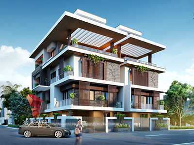 Agra-rendering-services-bungalow-night-view-3d-modern-homes-design-rendering-3d-exterior