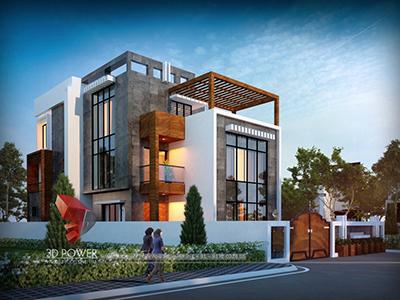 3d-exterior-rendering-top-architectural-rendering-Ahmedabad-3d-modeling-rendering-modern-bungalow-design-night-view