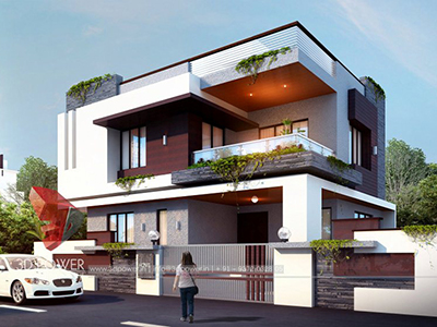 3d-floor-plan-rendering-Akola-bungalow-day-view-3d-home-design-rendering