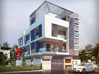 Akola-exterior-designing-services-bungalow-architectural-3d-modeling-services-bungalow-evening-view