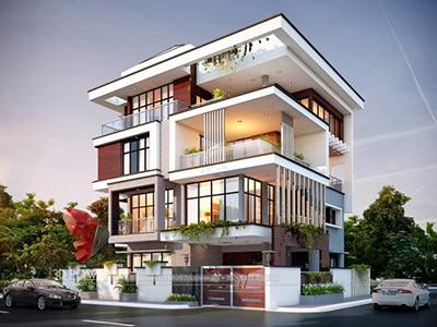 Aurangabad-3d-architectural-outsourcing-company-bungalow-evening-view