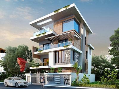 best-architectural-visualization-Aurangabad-architectural-3d-modeling-services-bungalow-evening-view