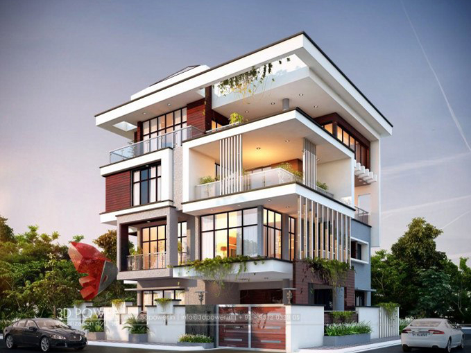 Belgaum-3d-architectural-outsourcing-company-bungalow-evening-view