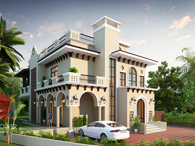 3d-view-of-bungalow-contemporary-bungalow-elevation-bungalow-designers