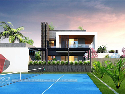 elevation-design-twin-bungalow-designs-india-house-3d-view-architectural-animation-company-3d-rendering