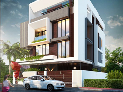 lavish-home-front-design-3d-view-bungalow-photos-in-india-3d-rendering