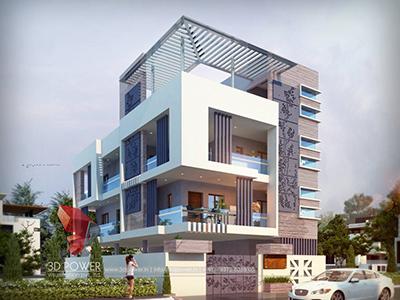 Chandigarh-exterior-design-rendering-bungalow-3d-landscape-design-bungalow-evening-view