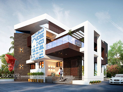 Chandigarh-rendering-services-bungalow-night-view-3d-modern-homes-design-rendering-3d-exterior