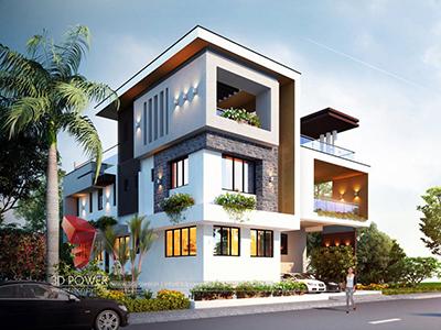Chandigarh-studio-bungalow-birds-eye-view-3d-animation-company-bungalow-3d-visualization