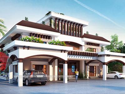 animation-studio-Chandigarh-architectural-visualization-services-bungalow-eye-level-view