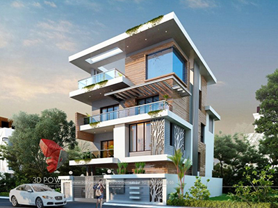 Coimbatore-best-architectural-visualization-architectural-3d-modeling-services-bungalow-evening-view