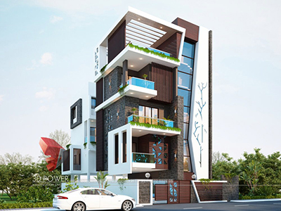 Ghaziabad-rendering-and-visualization-in-exterior-rendering-bungalow-design-day-view