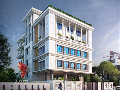 Kolkata-bungalow-design-day-view-3d-architectural-outsourcing-company-Best-3d-exterior