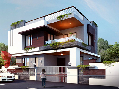 3d-floor-plan-rendering-Kota-bungalow-design-day-view-3d-home-design-rendering