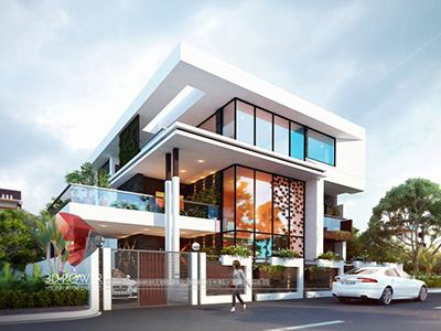 New-Delhi-3d-animation-studio-modern-bungalow-design-architectural-visualization