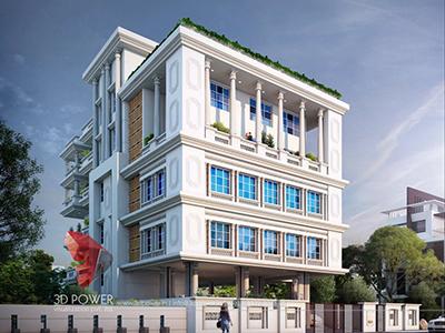 New-Delhi-bungalow-design-day-view-3d-architectural-outsourcing-company-Best-3d-exterior