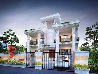 animation-studio-New-Delhi-architectural-visualization-services-bungalow-design-eye-level-view