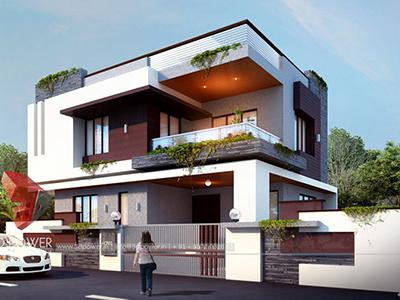 3d-floor-plan-rendering-Nizamabad-bungalow-design-day-view-3d-home-design-rendering
