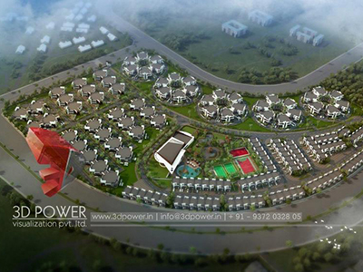 3d-animation-3d-Architectural-animation-services-township-birds-eye-view