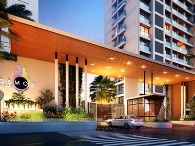 Front-apartments-gate-3d-view-architectural-flythrugh-real-estate-3d-walkthrough-visualization-studio