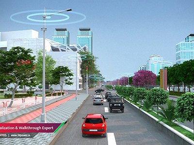 road-traffic-smrt-city-internal-road-ammenties-3d-architectural-design