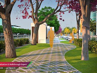 roadway-puclic-garden-architectural-design-architectural-walkthrough