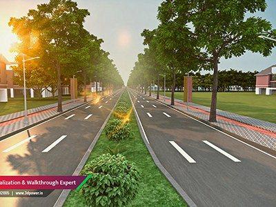 walking-plaza-open-road-rendering-for-smart-city-3d-power