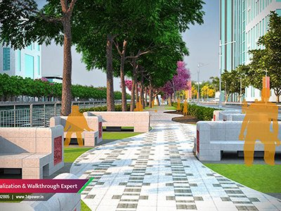 walking-plaza-public-garden-smart-city-3d-power-rendering-3d