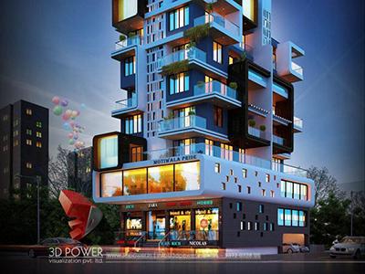 architect-design-3d-walkthrough-company-studio-apartment-night-view-eye-level-virtual-walkthrough