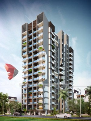 Elevation-front-view-apartments-flats-gallery-garden3d-real-estate-Project-3d-apartment-rendering-Architectural-3dwalkthrough