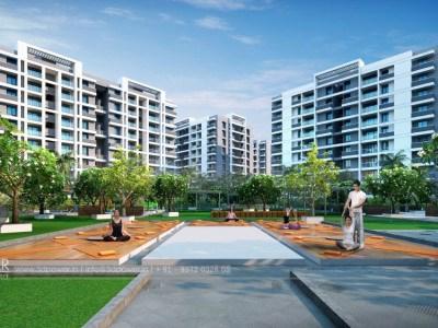 Playground-children-women-apartments-3d-design-elevation-3d-apartment-rendering