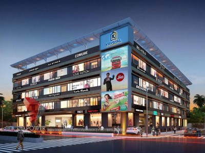 architectural-services-3d-model-architecture-shopping-mall-eye-level-view-night-view-building-apartment-3d-apartment-rendering