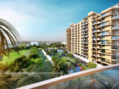 Side-view-balcony-view-of-apartments-design-&-elevation-of-building-beutiful