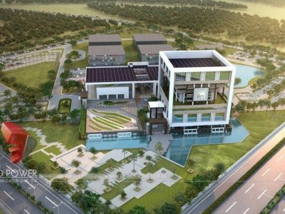 3d-Architectural-Alappuzha-rendering-apartment-birds-eye-view-architectural - visualization