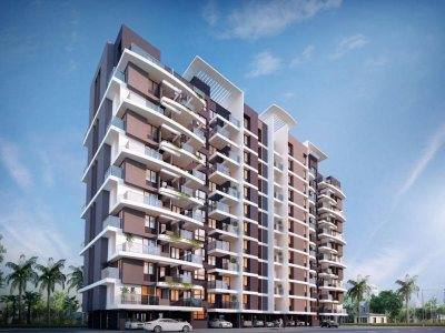 3d-high-rise-apartment-front-view-Alappuzha-architect-design-firm-3d-rendering-studio
