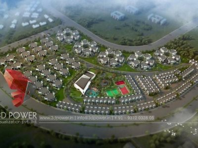 3d-township-rendering-Gokarna-services-birds-eye-3d-Architectural-animation-services -3d -rendering- company