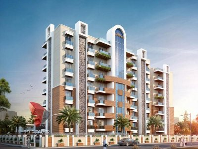 high-rise-apartment-Hyderabad-3d-flour-plans-day-view-apartment-Elevation-architectural- services