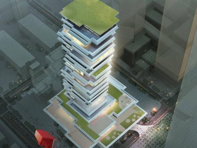 high-rise-apartment-birds-eye-view-3d-rendering-company- Hyderabad-3d- walkthrough- company