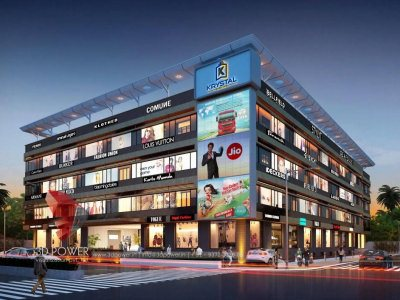 junagadh-3d-rendering-company-shopping-mall-eye-level-view-night-view-building-apartment-rendering