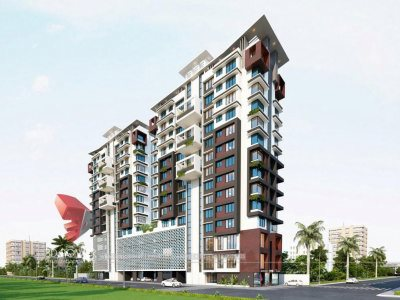 Kanchipuram-high-rise-apartment-virtual-walk-through-3d- architectural- rendering -service
