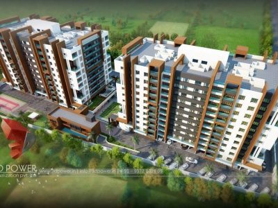 3d-visuliasation-townhsip-Kovalam-birds-eye-view-3d-exterior-rendering-3d-visualization-company