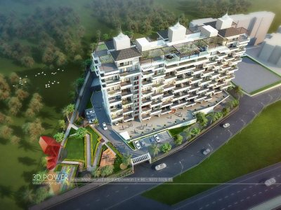 architectural-design-services-3d-walkthrough-company-apartments-birds-eye-view-evening-view-pune